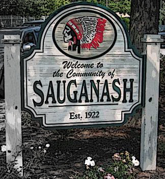 sauganash_bw